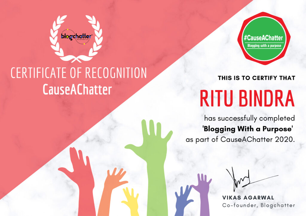 Join Blogchatter as a Cause A Chatter advocate. Registrations open in January.